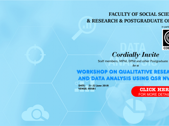 Qualitative Research and Data Analysis Workshop