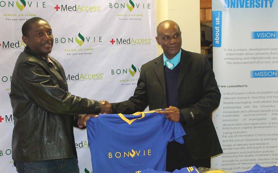 BONVIE DONATES SOCCER KIT TO MSU